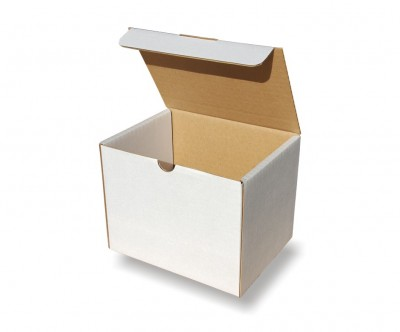 Small Single Wall White Cardboard Boxes