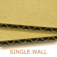 Single wall brown cardboard